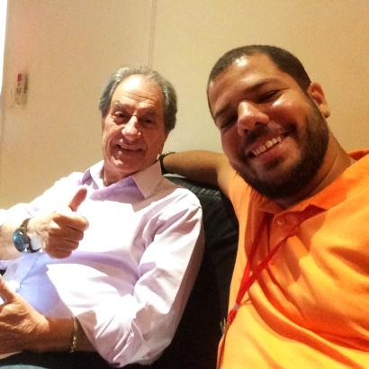 Ao lado de um dos maiores narradores do futebol brasileiro